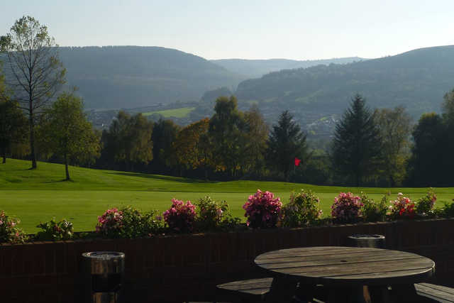 A view of a green at Aberdare Golf Club