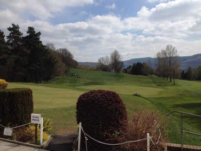 A view of a hole at Aberdare Golf Club