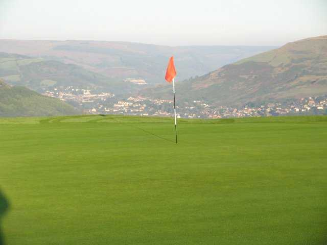 A view of a hole at Rhondda Golf Club