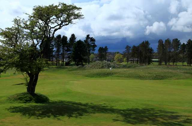 A view of hole #6 at Ashludie Course from Monifieth Golf Links