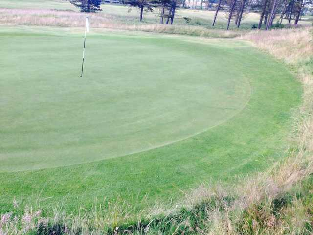 A view of the 8th green at Ashludie Course from Monifieth Golf Links