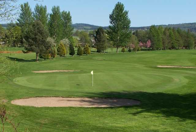 A view of a green at North Inch Golf Club
