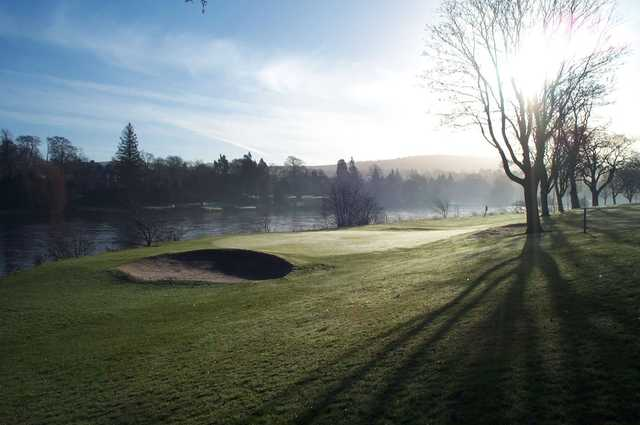 A view of the 16th hole with the Tay river in background at North Inch Golf Club