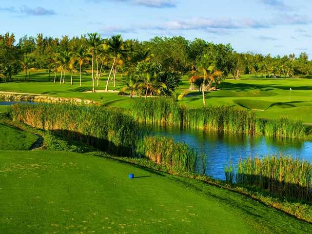 View of the 3rd tee box from the Lakes at Barcelo Bavaro Golf Course