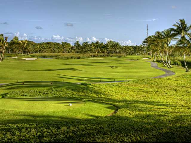 View of the 6th tee box from the Lakes at Barcelo Bavaro Golf Course
