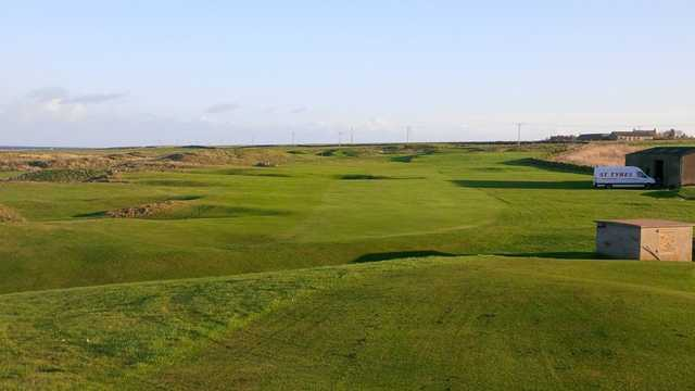 A sunny day view from Rosehearty Golf Club