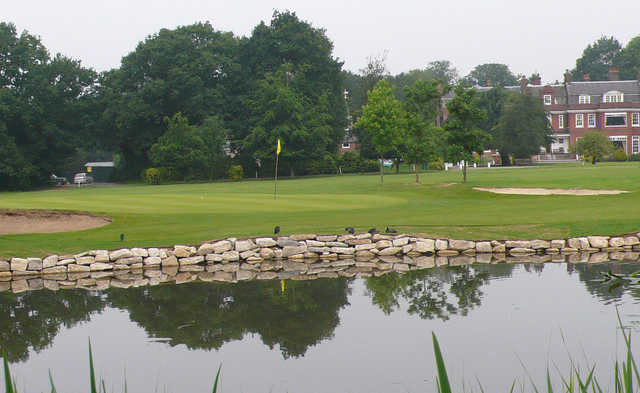 A view of green #13 at Bush Hill Park Golf Club.