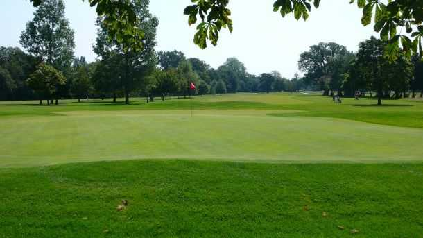 The large 3rd green at Bush Hill Park will put your putting skills to the test