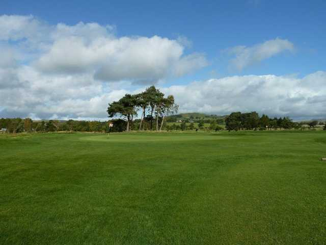 Good shot required to hit the 14th green at Biggar Golf Club