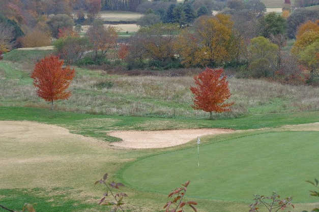 A view of green #3 at Mountain Harbour Golf Club