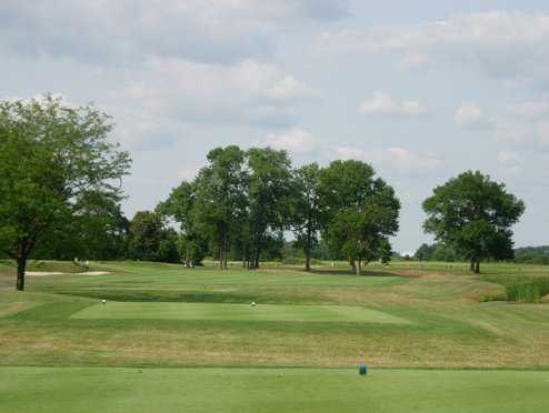 A view of hole #12 at Glenross Golf Course