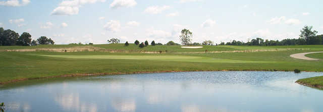 A view surrounded by water at Sable Creek Golf Course