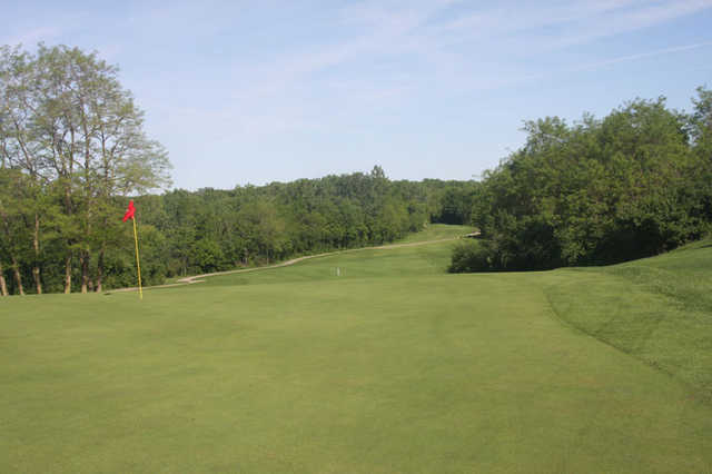 A view of hole #14 at Cinder Ridge Golf Course