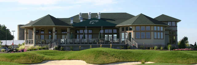 A view of the clubhouse at Grey Hawk Golf Club