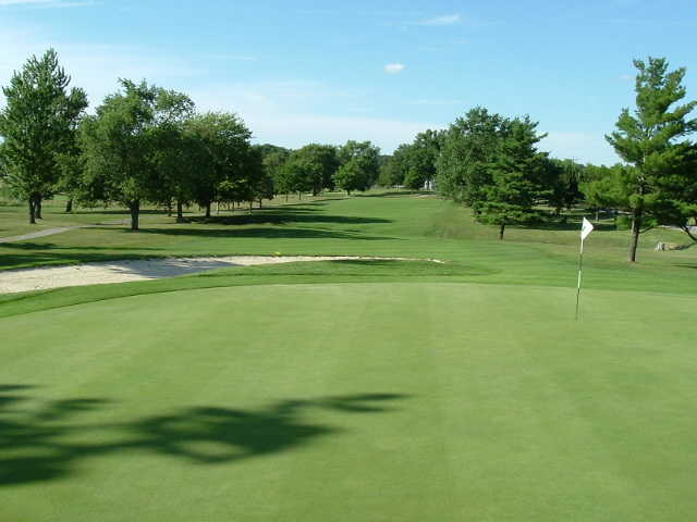 A view of hole #1 at Marysville Golf Club