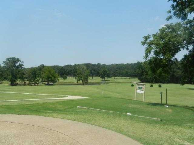 A view of a tee at Crowley's Ridge Country Club