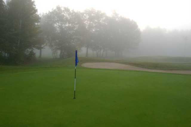An early morning view of a green at Petawawa Golf Club