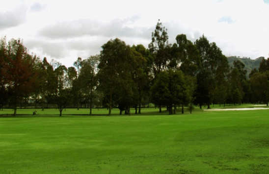 A view of a fairway at Logan's Run Family Golf Center