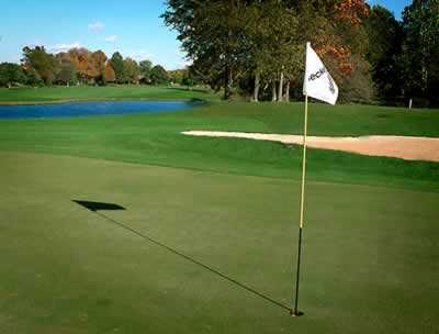 A view of the 3rd hole at Beckett Ridge Country Club