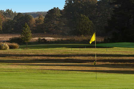 A view of a hole at Spring Creek Golf Club