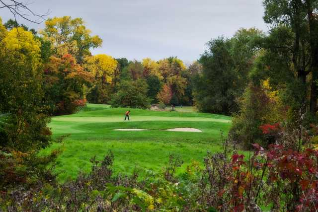 A view of a green at Bella Vista Golf Course