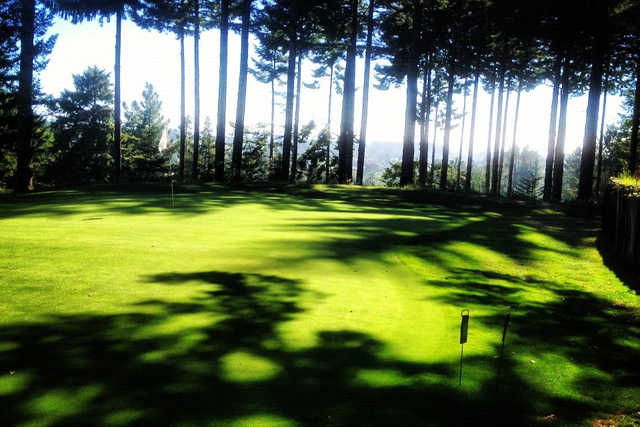 A view of the 6th green at Beau Pre Golf Club