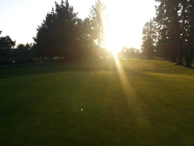 A sunny view of hole #3 at Beau Pre Golf Club