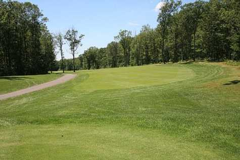 A view of the 4th hole from tee at Sand Springs Golf Course
