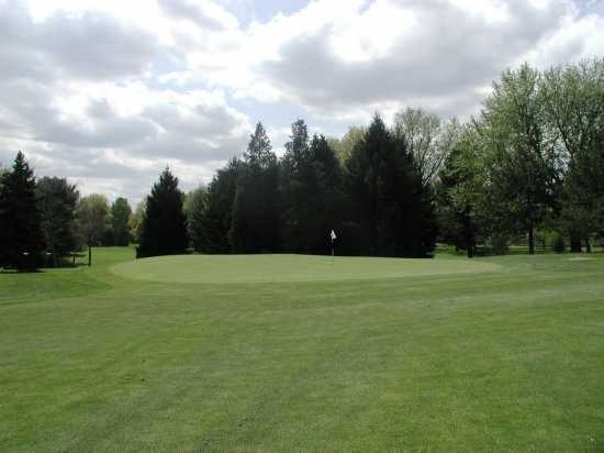 A view of green #17 at Butler's Golf Course - Woodside Course