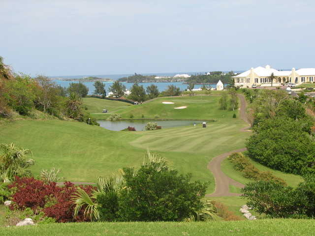 Tucker's Point Golf Club in Bermuda, has sloping and twisting fairways.