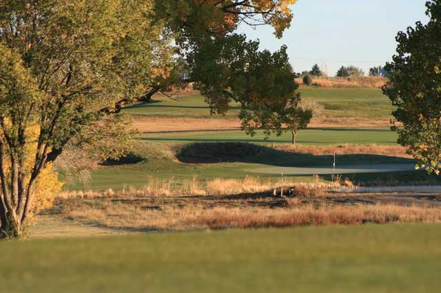 A view of the 2nd green from Gene Torres Golf Course at Highlands University