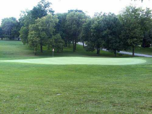 A view of a green at Wildwood Golf Course