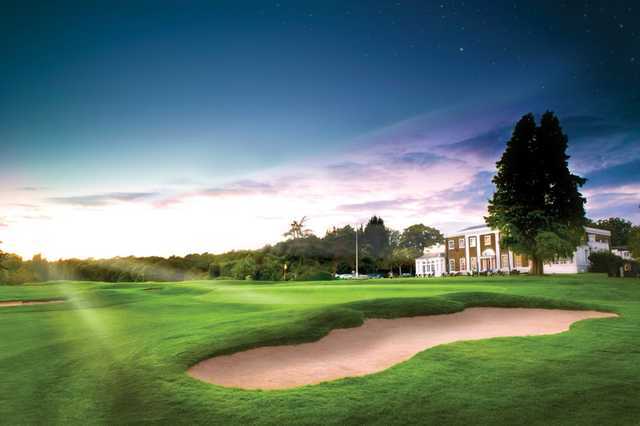 Stunning shot of the 11th and clubhouse at Hadley Wood Golf Club