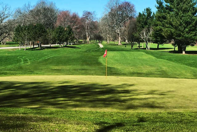 A view of a hole at Genesee Valley Golf Course