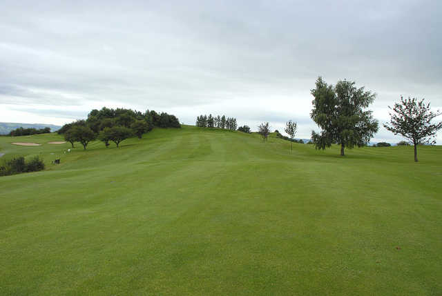 A view of the 17th fairway at Llanymynech Golf Club