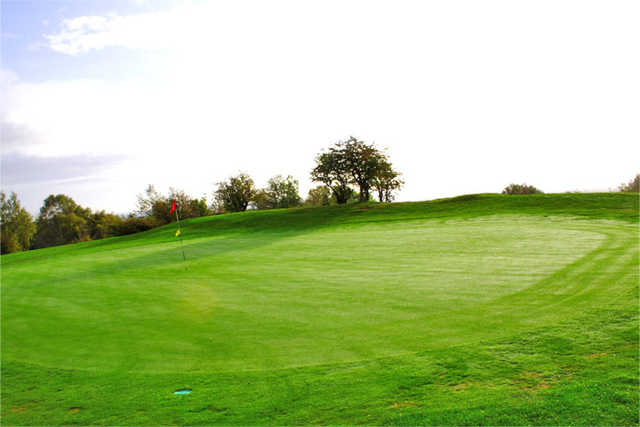 A view of green #12 at Llanymynech Golf Club