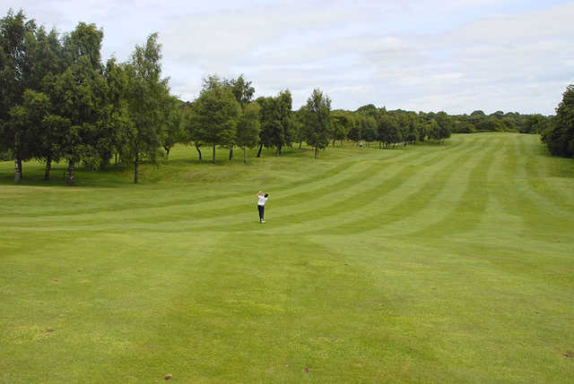 A view of the 2nd fairway at Llanymynech Golf Club
