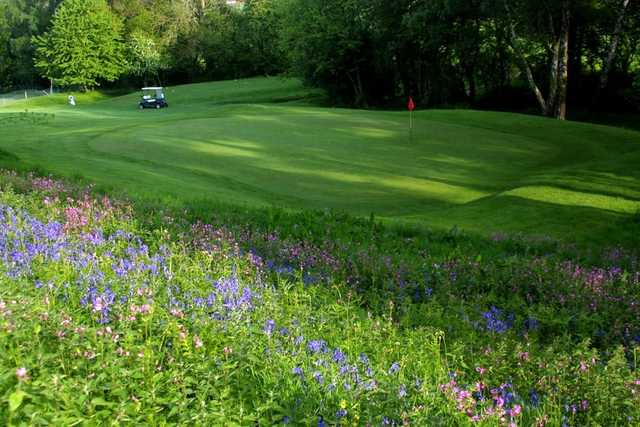 A view of a green at Badger Course from Grove Golf & Bowl