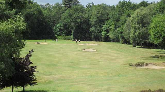 A view from a fairway at Sunningdale Heath Golf Club