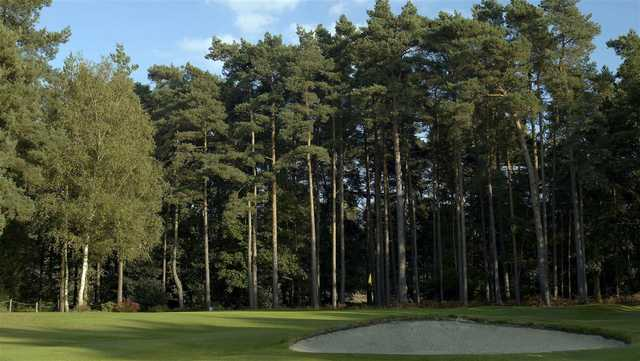 A view of a green at Sunningdale Heath Golf Club