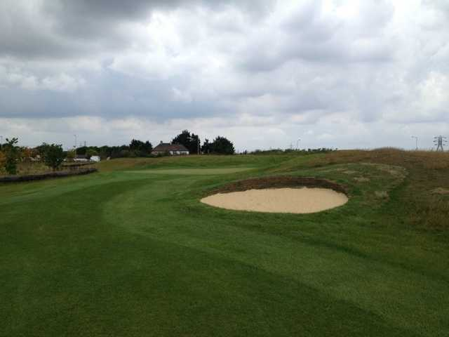 A view from fairway #8 at Mini Links Course from Ingrebourne Links Golf Complex