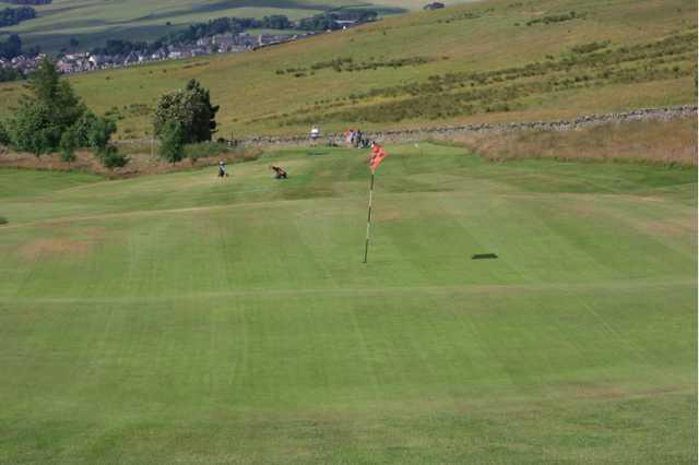 A view of green #6 at Galashiels Golf Club