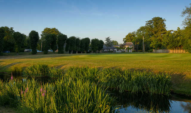 A look at the 18th green at Old Fold Manor Golf Club