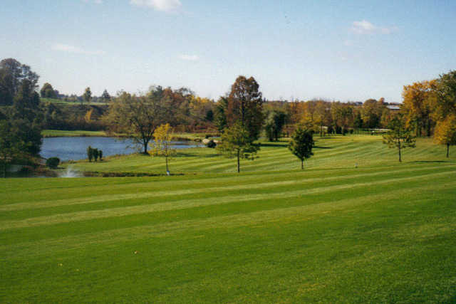 A view of a fairway at Auburn Bluffs Golf Club