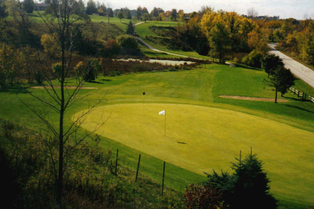 A view of a hole at Auburn Bluffs Golf Club