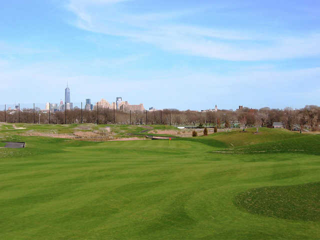 A view from fairway #1 at Skyway Golf Course from Lincoln Park West.