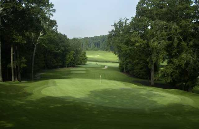 A view of a green at Charlie Yates Golf Course