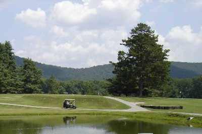 A view over the water from Mossy Creek Golf Club
