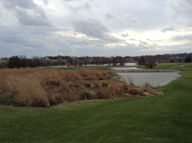A view over the water from Green Hills Golf Course