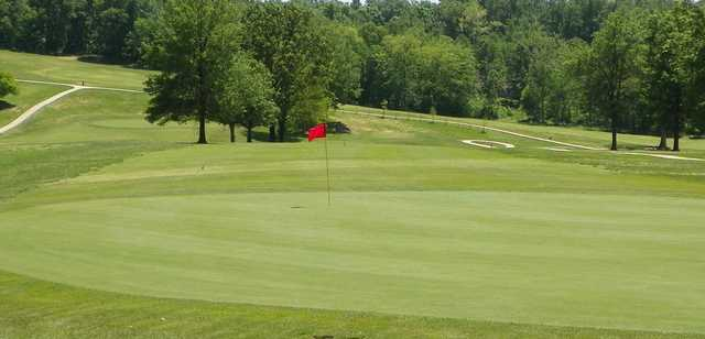 A view of a green at Cape Jaycee Municipal Golf Course